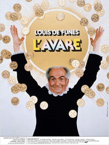 Affiche de L'Avare, avec Louis de Funès