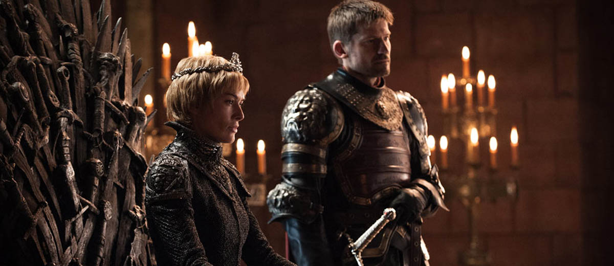 Cersei (Lena Headey) et Jaime (Nikolaj Coster-Waldau) Lannister dans Game of Thrones