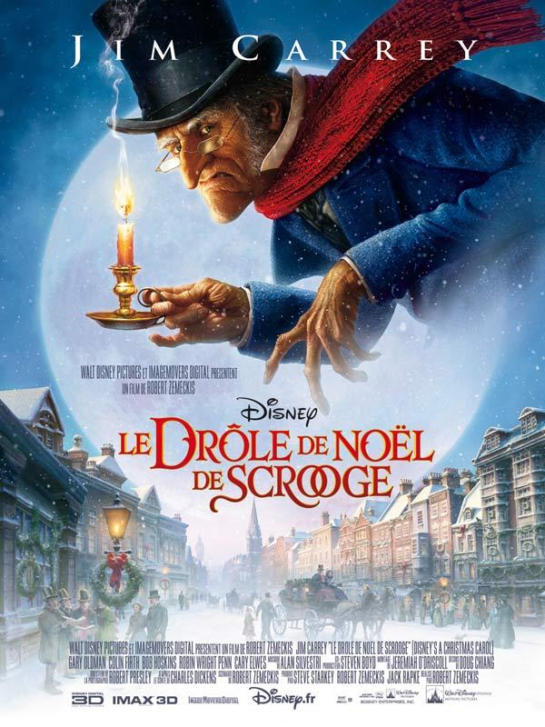 Affiche de Le drôle de Noël de Scrooge avec la voix de Jim Carrey