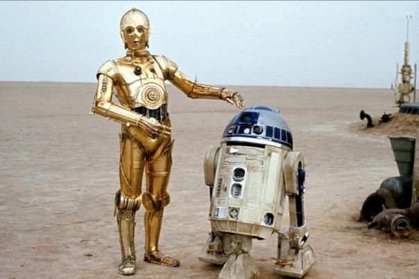 Robots R2D2 et C3PO saga Star Wars